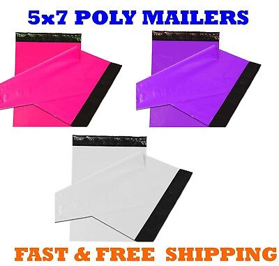 5x7 Color Poly Mailers Shipping Envelopes Self Sealing Mailing Bags 5 X 7