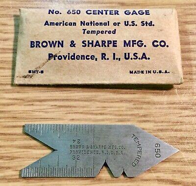 Brown Sharpe Center Gage Model 650 Vintage Center Thread Gage Center Gauge Usa