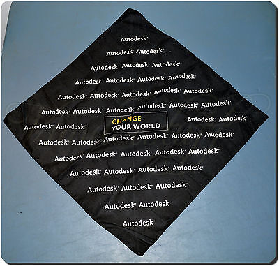 Autodesk Change Your World Promotional Bandana   Hankerchief  2004  New Cond