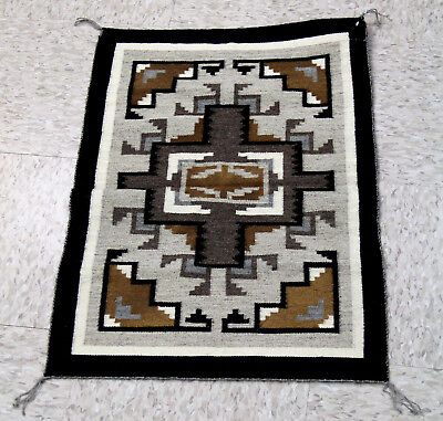 ULTRA FINE TAPESTRY WEAVE 48-56 wpi Navajo Two Gray Hills Rug 27