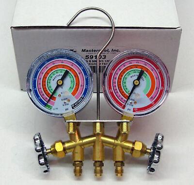 59103 Mastercool Ac Hvac Refrigeration Brass Bar Manifold R410a R404a R22