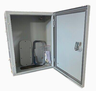 Steel Electrical Enclosure Hxwxd 16x12x8 Nema Ip66 Powder Coated W Sub Panel