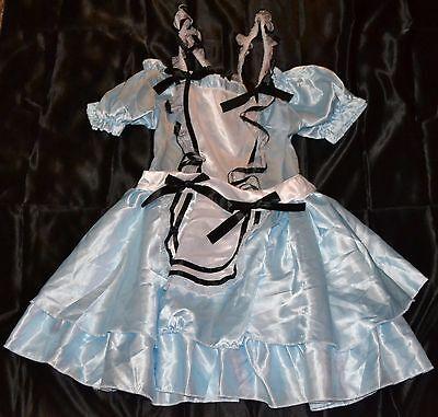 Alice In Wonderland Halloween Costume Fits Adults Size 4-6 Girls Women Dress