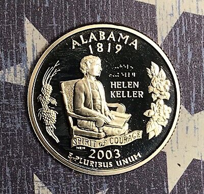 Alabama State Coin - 2003-S ALABAMA  STATE QUARTER PROOF. COLLECTOR COIN FOR COLLECTION.