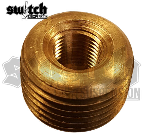 Brass Pipe Fitting 1/2 NPT Male to 1/8 NPT Female Reducer Face Bushing
