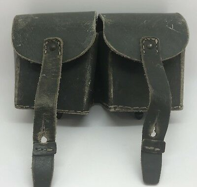 Vintage WWII Collectible Genuine Leather Belt Pouch Case Carrier (RF826)
