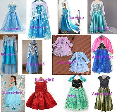 ON SALE Disney Frozen Elsa & Cinderella dress costume Princess party dresses - Elsa Costume Sale