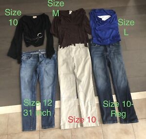 Ladies clothing - size 10/12 - Lot of 21 items