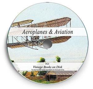 History of Aeroplane Aviation Books on DVD Aeronautics Design Aircraft Flight G1