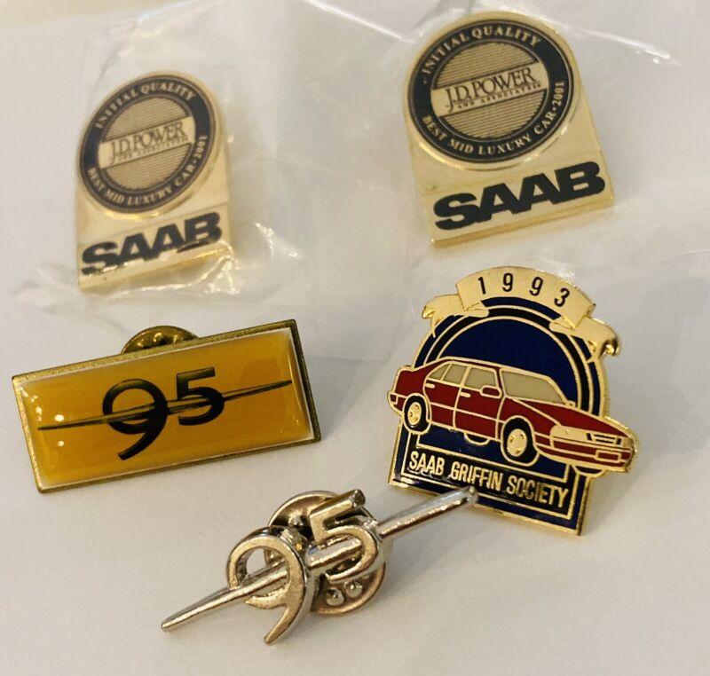 Lot SAAB Pins x2 Genuine SAAB Parts x2 95 Pins 1993 SAAB Griffin Society Vintage