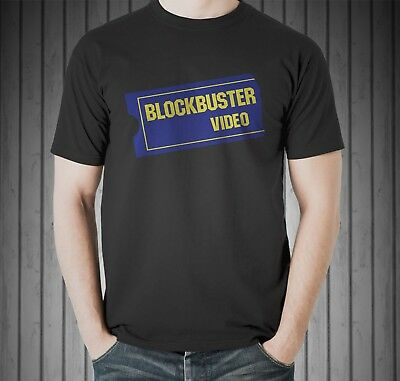 90s Stores (Blockbuster Video Store Rental 80's 90s Memorie Netflix Black T-shirt Size)