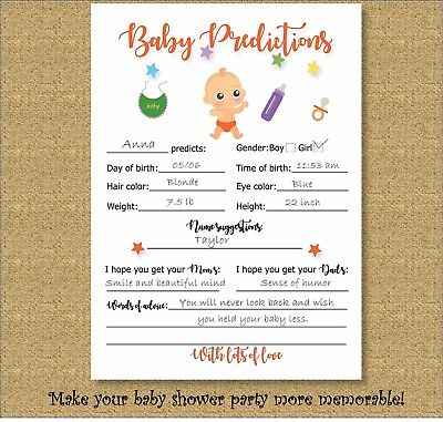 Mommy Advice Cards (Baby Shower Prediction Advice Cards Mom To Be Fun Games Babyshower)