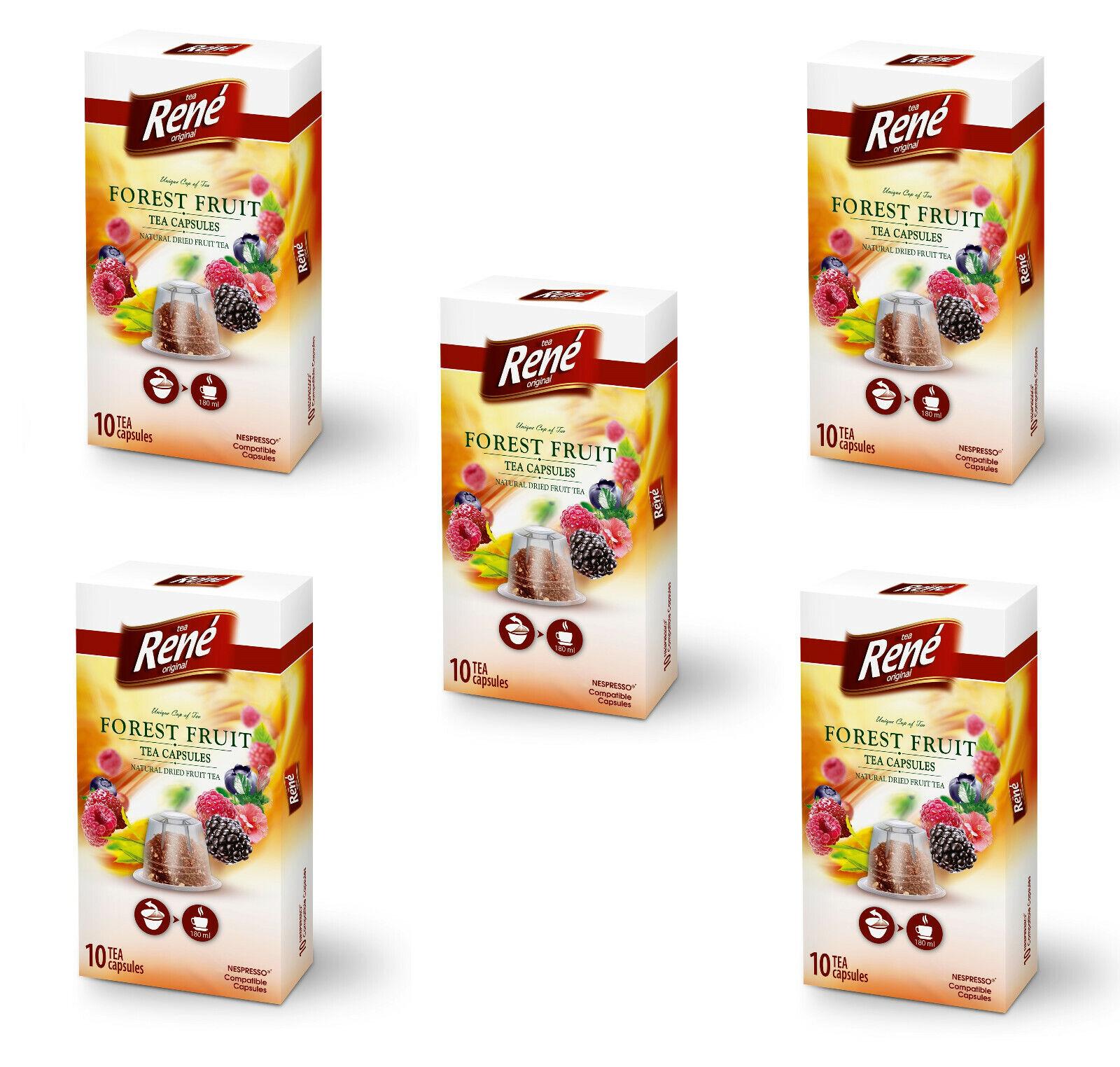 50 Nespresso ® Kapseln Früchtetee Teekapseln Kompatible Tee Kapseln Waldfrucht