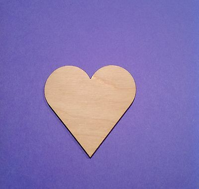 - WOODEN LASER CUT SHAPES - HEARTS - Multiple Sizes - Made in U.S.A.