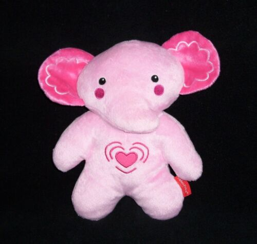 Fisher Price Pink Elephant Calming Vibrations Soother Music Heart Soother