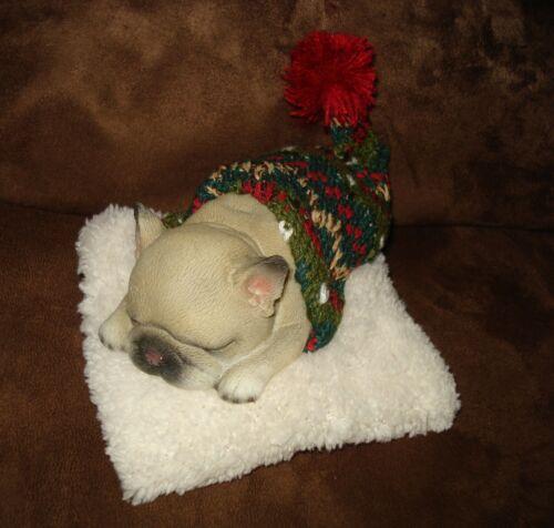 BABY NEWBORN FRENCH BULLDOG PUG PUPPY DOG REALISTIC FIGURINE DECOR FIGURE