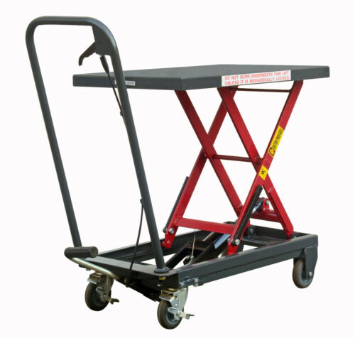 Pake Handling Tools - Hydraulic Manual Scissor Lift Table, 500lbs