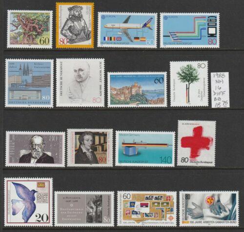Germany 1988 NH 16 diff Commemorative 2018 cv 18.75 Lot BB