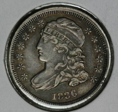 1836 Capped Bust Dime - Strong Extra Fine Condition coin - Rotated Reverse