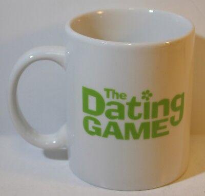 The DATING GAME TV Game Show Set COFFEE MUG LOGO Tea Cup White/Green