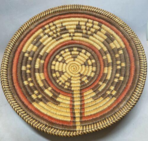 Handmade Navajo 15 Inch Ceremonial Basket By Evelyn Cly of Utah