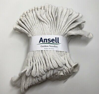 24 Pair White String Knit Poly Cotton Work Gloves Large Winter Liner