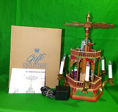 Avon Gift Collection A CHRISTMAS CAROL WINDMILL Electric Animated Musical