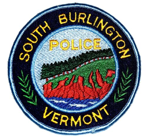 SOUTH BURLINGTON VERMONT VT Police Sheriff Patch RIVER EVERGREEN TREES HILL ~