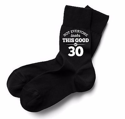 30th Birthday Gift Present Idea Boy Dad Him 1989 Men 30 Black Sock Accessories