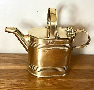 LOVELY ANTIQUE BRASS WATERING CAN - VERY GOOD CONDITION