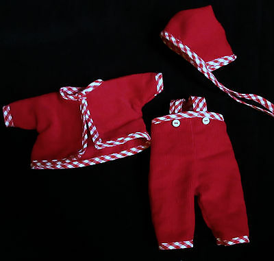 "3 PIECE CORDUROY OVERALLS SET FOR 8"" VINTAGE VOGUE GINNETTE BABY DOLL"