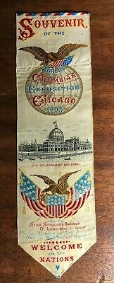 1893 Columbian Exposition Souvenir Ribbon