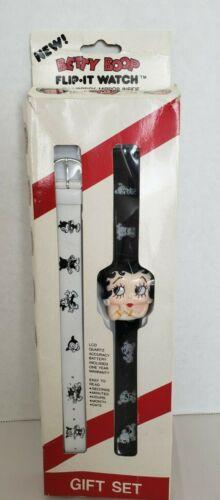 Vintage 1985 Betty Boop Flip It Wrist Watch Digital Lipstick Mirror - Tested!