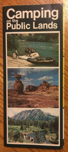 Camping on Public Lands Northwest States US Department of the Interior Brochure