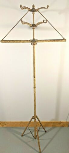 Vintage 1930s Utilatree Portable Collapsible Clothing Coat and Hat Rack Tree