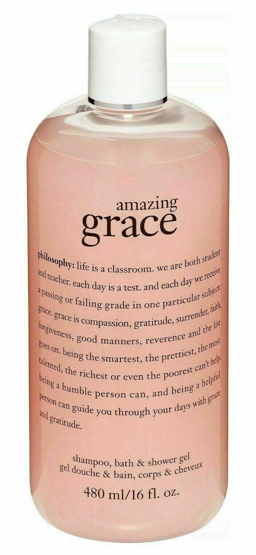 philosophy Amazing Grace Shampoo, Bath & Shower Gel 16 oz