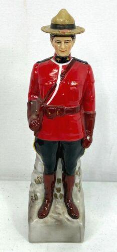 Vintage Royal Mounted Police Canadian Whiskey Decanter Bottle