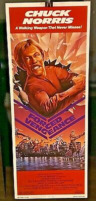 FORCED VENGEANCE ORIGINAL 14X36 ROLLED MOVIE POSTER 1982 INSERT CHUCK NORRIS