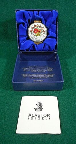 """Alastor Enamels """"Thank You"""" Trinket Box with Certificate"""