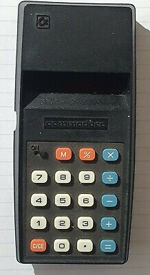 VINTAGE COMMODORE ELECTRONIC CALCULATOR MODEL 796M - DATES TO THE 1970's