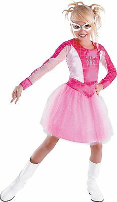The Amazing Spider-Man Spider Girl Classic Costume Size  4-6 PINK NWT - Spiderman Girl Halloween Costumes