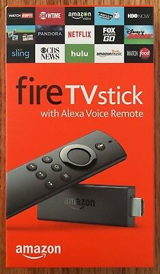Amazon Fire TV Stick with Alexa Voice Remote   Streaming Media Player 2017 Model