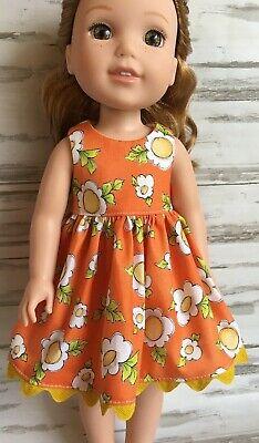 Orange Daisy Dress fits 14.5