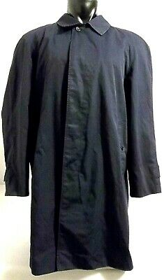 Burberrys Vtg Men's XXL Terylene Cotton Blend Navy Blue Coat Jacket Nova Lining