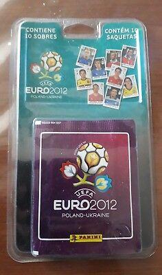 blister cromos paquete 10 sobres eurocopa 2012 12 panini album stickers segunda mano  Maliaño