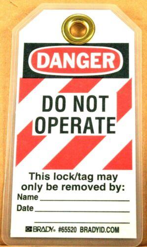 2 BRADY Lockout Tag, Heavy Duty Laminated Polyester, Danger - 65520