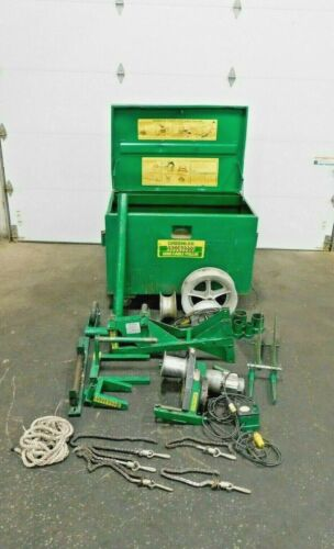 MO-4302, GREENLEE 6000 6001 SUPER TUGGER CABLE PULLER PACKAGE. 6500 LBS. MAX.