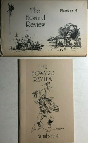 THE HOWARD REVIEW #4 vintage 40-page Robert E Howard fanzine 1975 Frank Frazetta