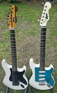 Strat type guitars Various prices USA and Australian made Fender Nunawading Whitehorse Area Preview