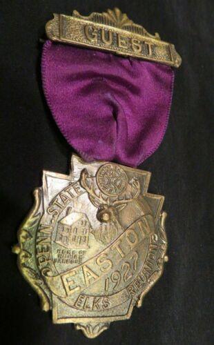 Vintage BPOE Order of the Elks 1927 Easton PA Reunion Medal Penn State